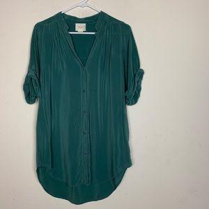Maeve- Green Juni Silk Blouse size small